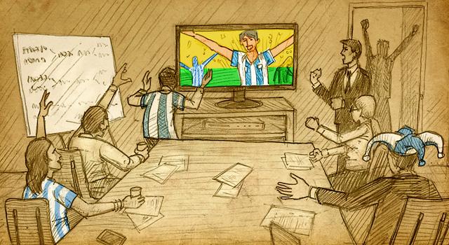 5 motivos para ver los partidos de Argentina en el trabajo