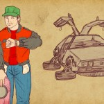 Marty McFly y un futuro visto desde los ochentas. ILUSTRACIÓN DE ALEJANDRO MIGUELES.